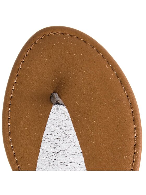 Tommy Jeans Tommy Jeans Джапанки Metallic Flat Thong Sandal EN0EN00205 Сребрист