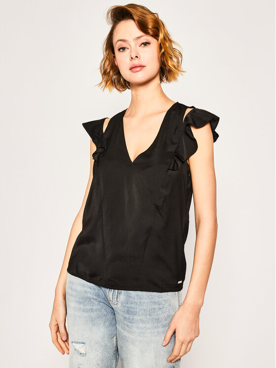 Guess Guess Top Dahab W01H92 W5OC0 Nero Regular Fit