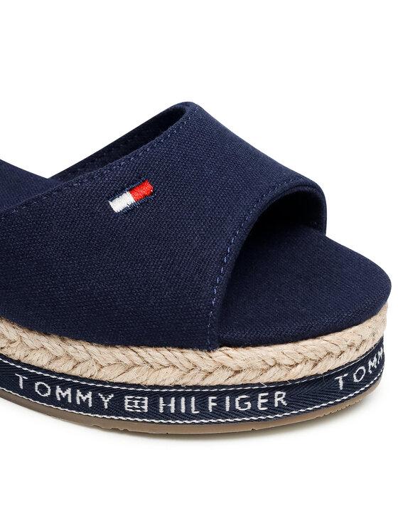 Tommy Hilfiger Tommy Hilfiger Espadryle Rope Wedge Sandal T3A2-31056-0048 S Granatowy