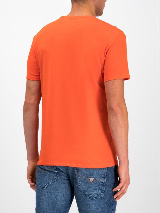 Guess Guess T-Shirt M93I51 J1300 Pomarańczowy Slim Fit