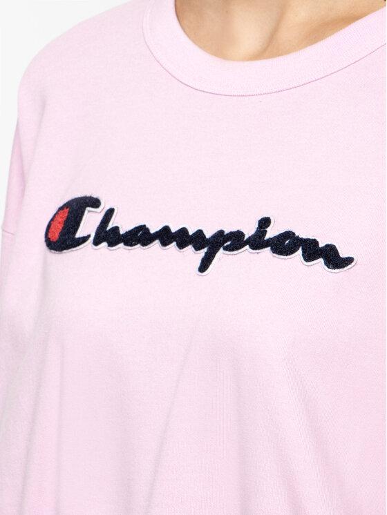 Champion Champion Bluza 111384 Różowy Oversize
