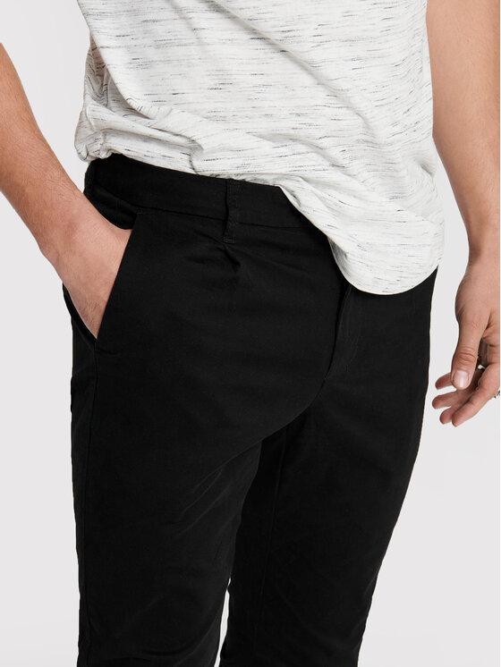 Only & Sons ONLY & SONS Spodnie materiałowe Cam 22016775 Czarny Regular Fit