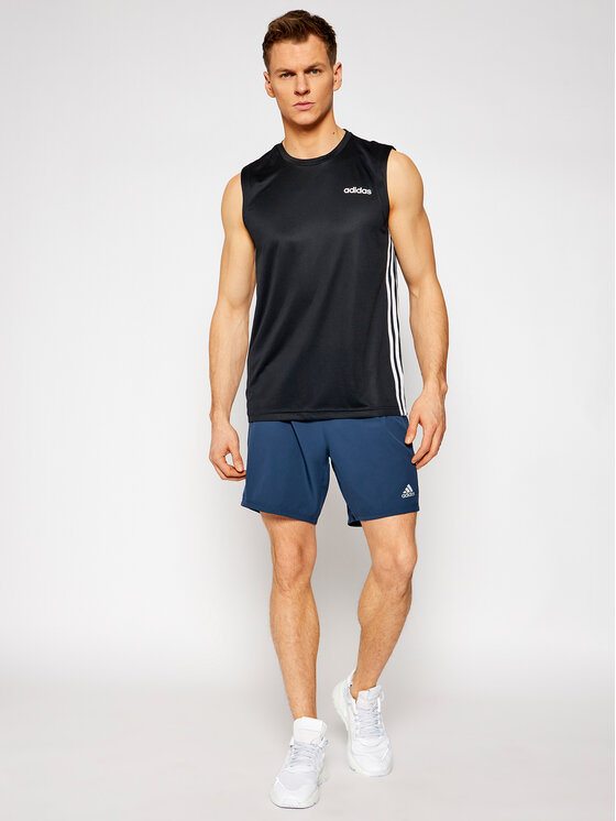 adidas adidas Tank top Design 2 Move 3-Stripes DT3047 Czarny Regular Fit