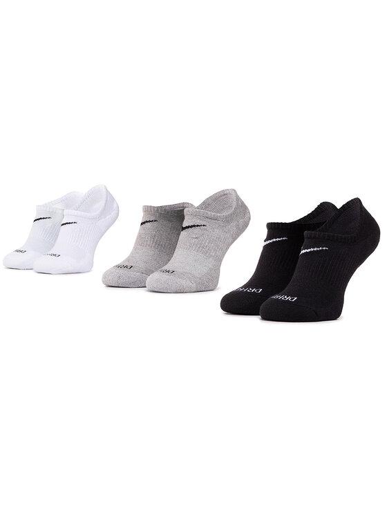 NIKE NIKE Sada 3 párů kotníkových ponožek unisex SX7840 911 Bílá