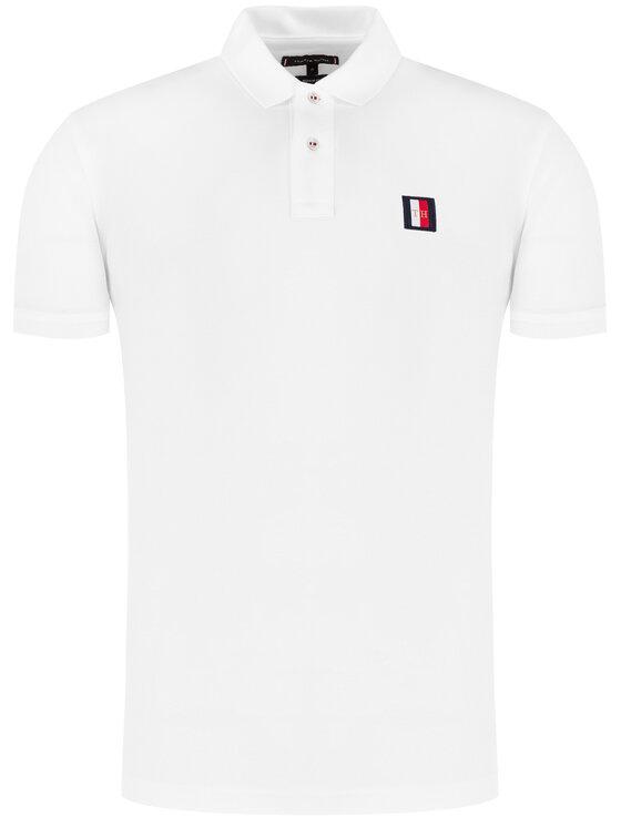 Tommy Hilfiger Tommy Hilfiger Polo Icon Mini Badge MW0MW13077 Biały Regular Fit