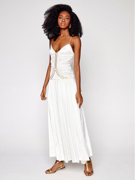 IXIAH Vakarinė suknelė IX22-80509 Balta Regular Fit