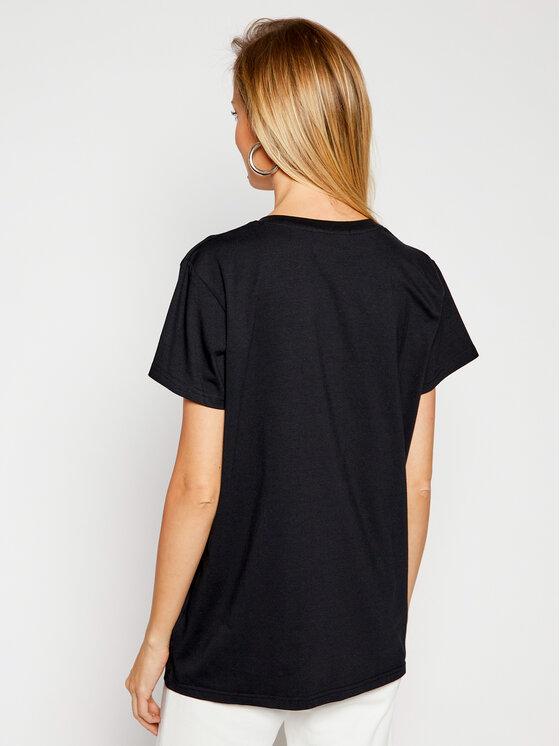 PLNY LALA PLNY LALA T-Shirt Plny Lala PL-KO-VN-00126 Czarny V-Neck Fit