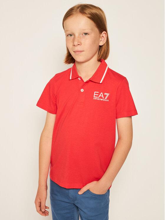 EA7 Emporio Armani EA7 Emporio Armani Тениска с яка и копчета 3HBF51 BJ02Z 1453 Червен Regular Fit