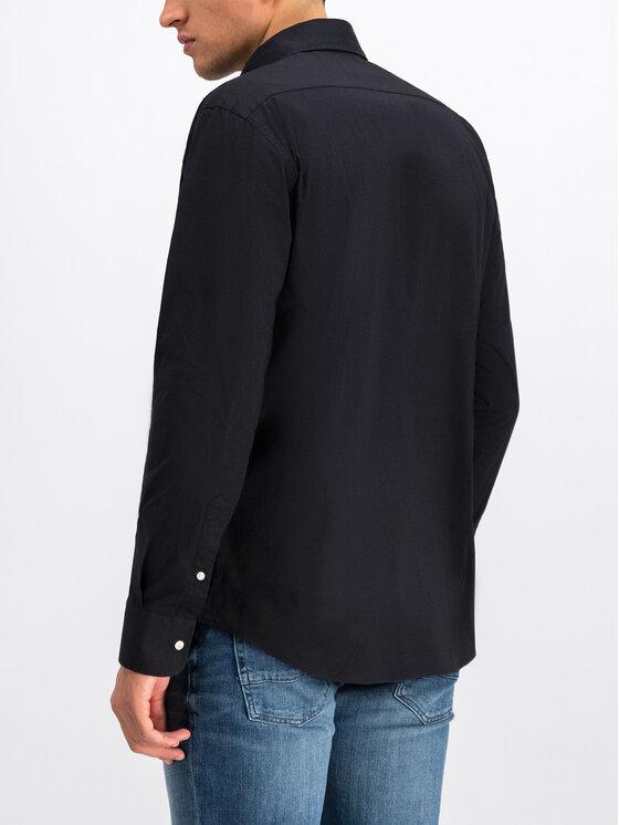 La Martina La Martina Риза OMCM30 PP003 Черен Regular Fit