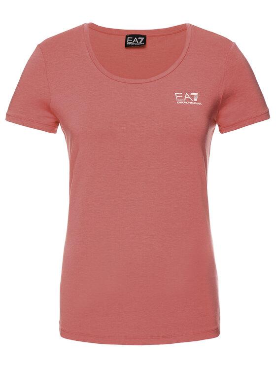 EA7 Emporio Armani EA7 Emporio Armani T-Shirt 3GTT01 TJ28Z 1456 Růžová Regular Fit