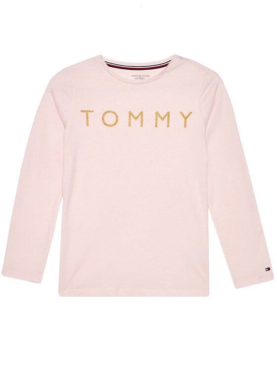 Tommy Hilfiger Tommy Hilfiger Piżama Ls Pant Set Glitter UG0UG00409 Kolorowy