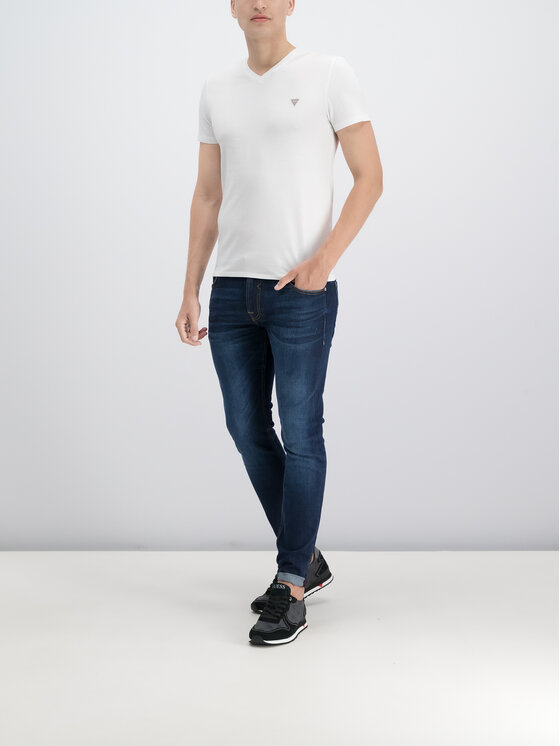 Guess Guess T-Shirt M93I52 J1300 Λευκό Slim Fit