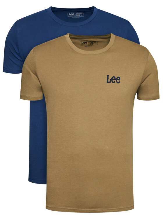 Lee 2 marškinėlių komplektas Twin Graphic L65RAITS Spalvota Fitted Fit