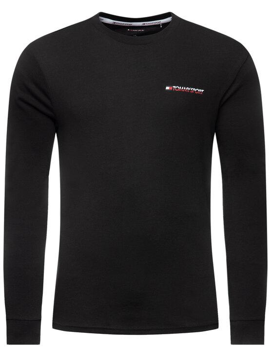Tommy Sport Tommy Sport Тениска с дълъг ръкав S20S200313 Черен Regular Fit