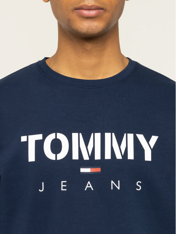Tommy Jeans Tommy Jeans Mikina Tjm Novel Logo Crew DM0DM07614 Tmavomodrá Regular Fit