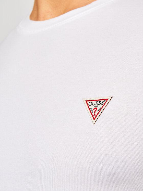 Guess Guess T-Shirt M1RI24 J1311 Biały Super Slim Fit