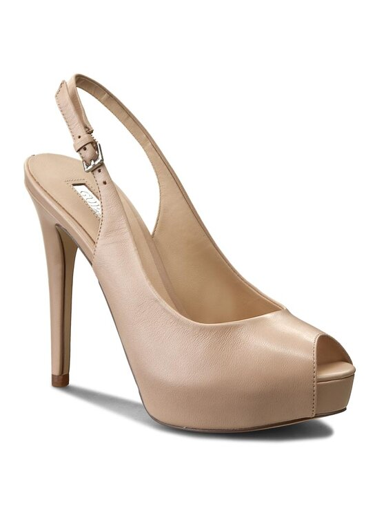 Guess Guess Sandále Huele FLHUE1 LEA07 Béžová