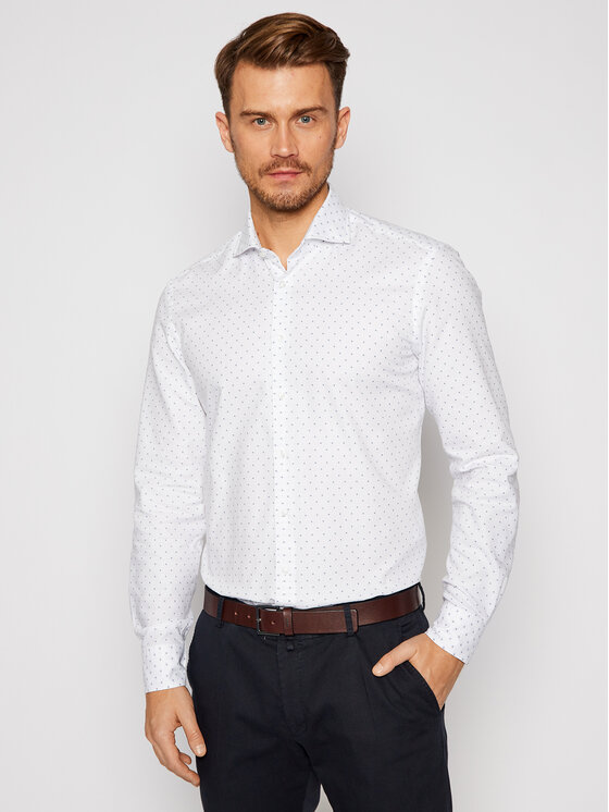 Baldessarini Marškiniai Henry 10007/000/1003 Balta Regular Fit