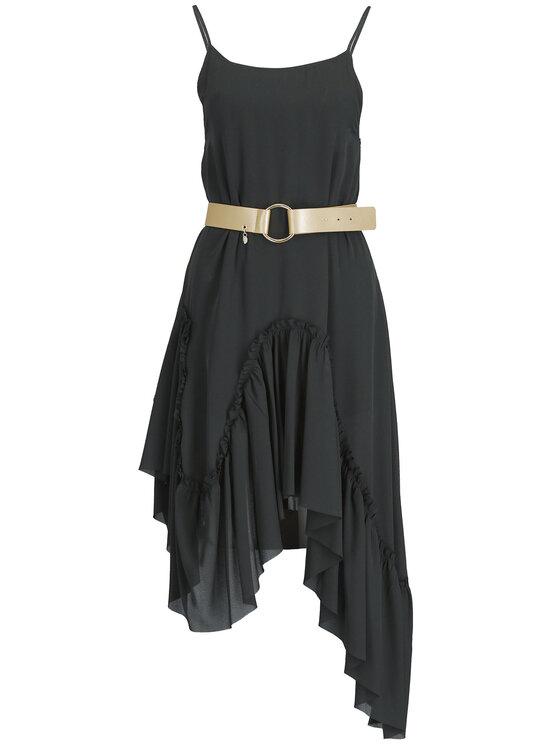 Liu Jo Liu Jo Koktejlové šaty C19243 T5193 Černá Regular Fit