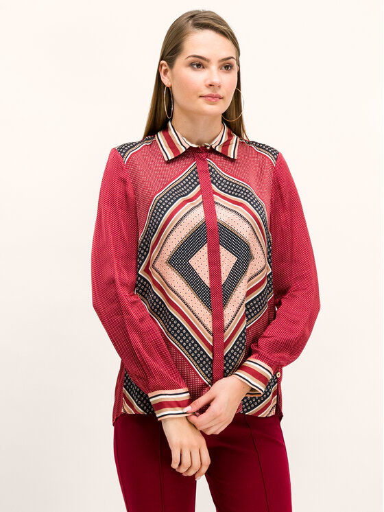 Pennyblack Pennyblack Košile Emanuela 21140519 Červená Regular Fit