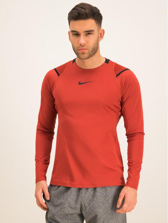 Nike Nike Koszulka techniczna AeroAdapt BV5508 Pomarańczowy Slim Fit