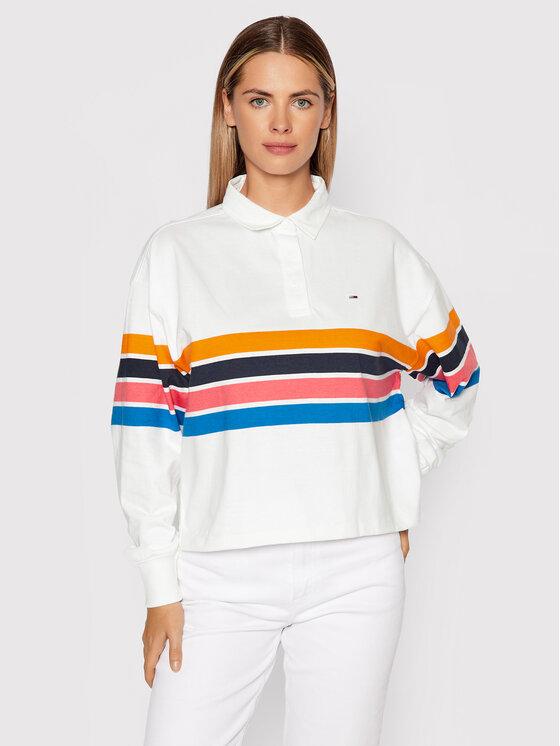 Tommy Jeans Tommy Jeans Polo DW0DW09307 Biały Regular Fit