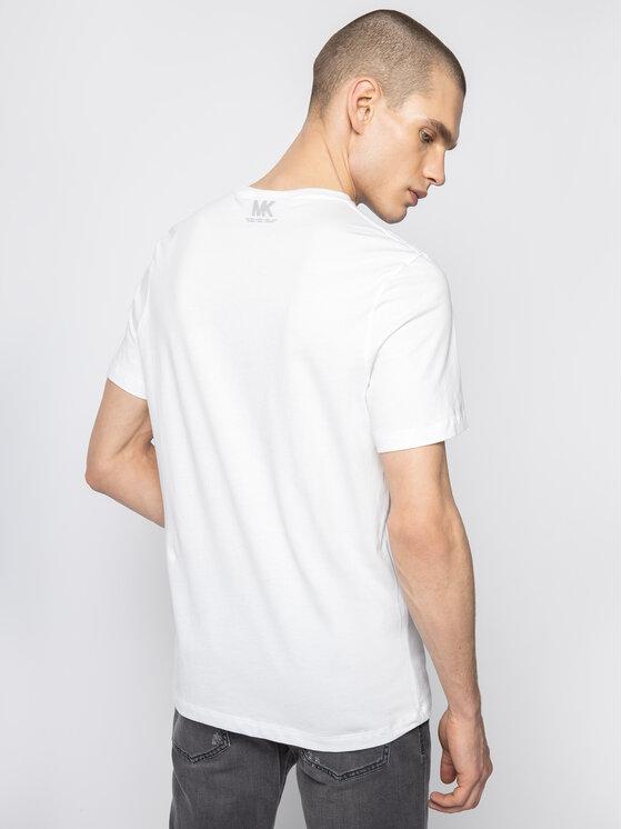MICHAEL Michael Kors MICHAEL Michael Kors Marškinėliai Logo-Print Pocket CR95J46FV4 Balta Slim Fit
