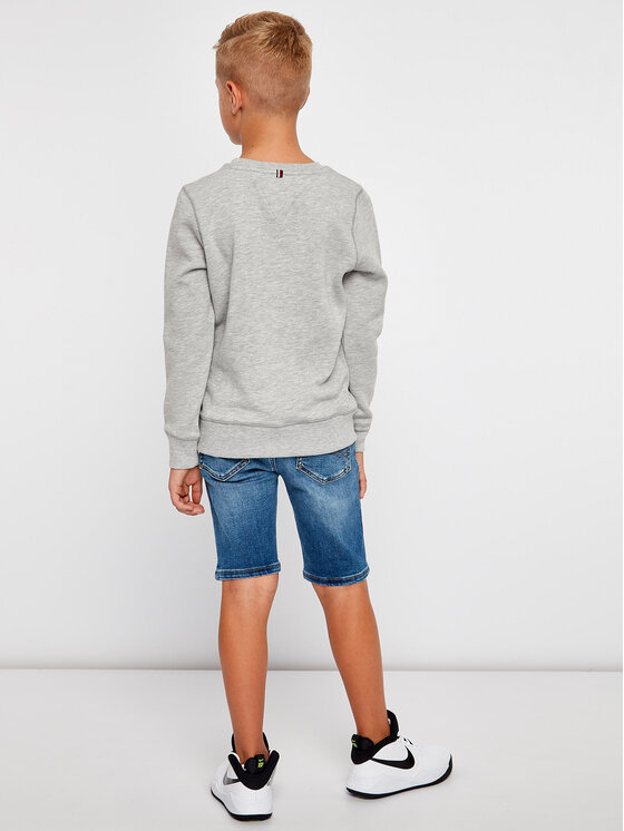 Tommy Hilfiger Tommy Hilfiger Суитшърт Boys Basic Sweatshirt KB0KB04137 D Сив Regular Fit