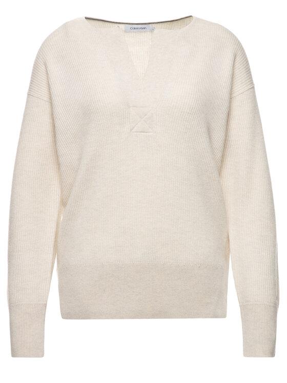 Calvin Klein Calvin Klein Sweter K20K201320 Beżowy Regular Fit