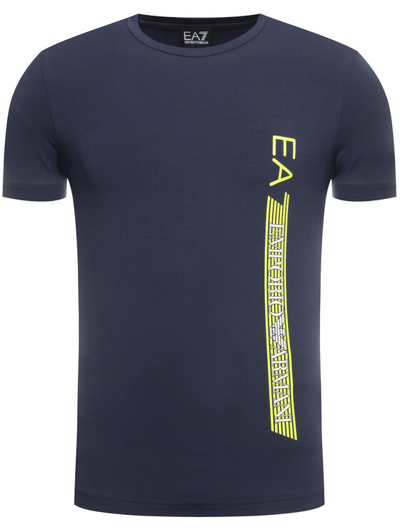 EA7 Emporio Armani EA7 Emporio Armani Marškinėliai 3HPT08 PJ03Z 3905 Tamsiai mėlyna Regular Fit