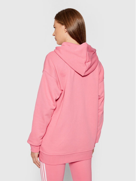 adidas adidas Majica dugih rukava adicolor Trefoil H33587 Ružičasta Regular Fit