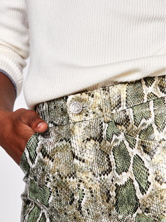 Rage Age Rage Age Pantaloni din imitație de piele Agata Verde Slim Fit