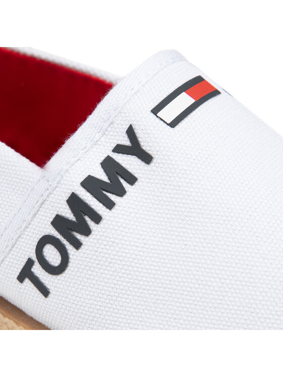 Tommy Jeans Tommy Jeans Espadryle Logo Espadrille EM0EM00676 Biały