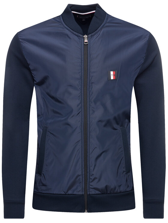 Tommy Hilfiger Tommy Hilfiger Bomber Mixed Media Bomber MW0MW10510 Blu scuro Regular Fit