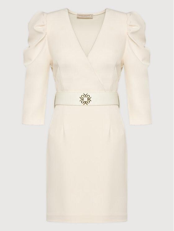Rinascimento Rinascimento Sukienka koktajlowa CFC0101985003 Beżowy Slim Fit