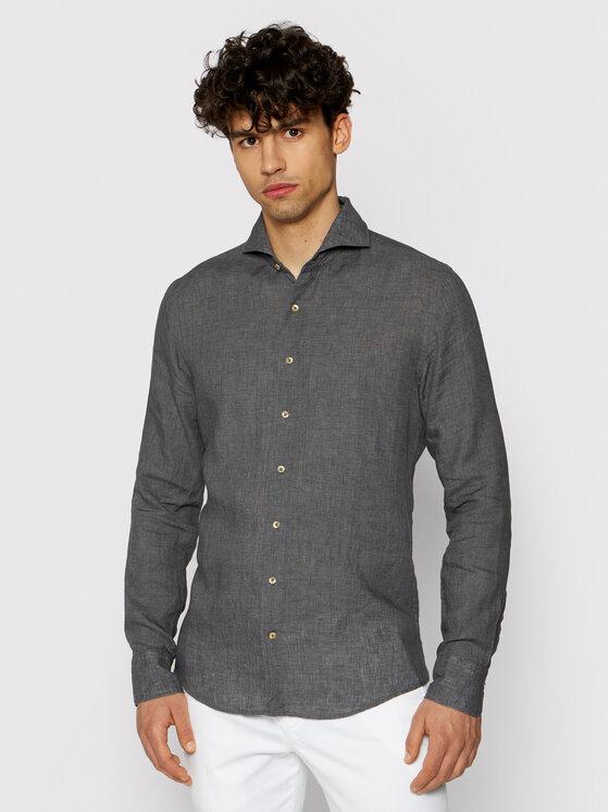 Stenströms Marškiniai 775221 7970 Pilka Slim Fit