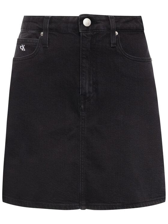 Calvin Klein Jeans Calvin Klein Jeans Fustă de blugi Archive Icons J20J213165 Negru Regular Fit