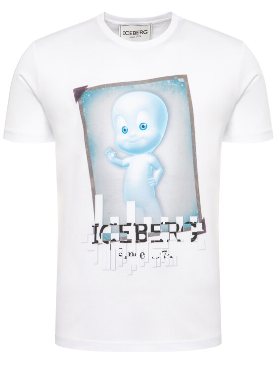 Iceberg Iceberg Tričko 20EMP0F0246301 Biela Regular Fit