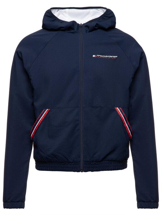 Tommy Sport Tommy Sport Giacca di transizione S10S100278 Blu scuro Regular Fit