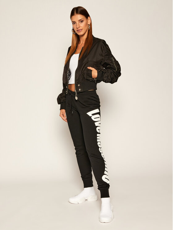 LOVE MOSCHINO LOVE MOSCHINO Teplákové kalhoty W142418M 4055 Černá Regular Fit