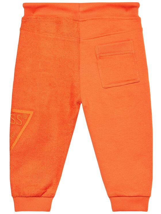 Guess Guess Spodnie dresowe N1RQ09 KA6R0 Pomarańczowy Regular Fit