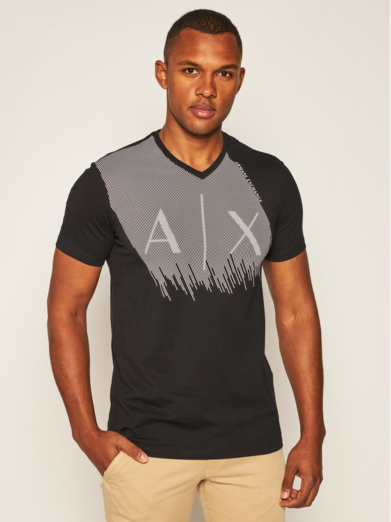 Armani Exchange Armani Exchange T-Shirt 6HZTAQ ZJ2HZ 1200 Černá Regular Fit