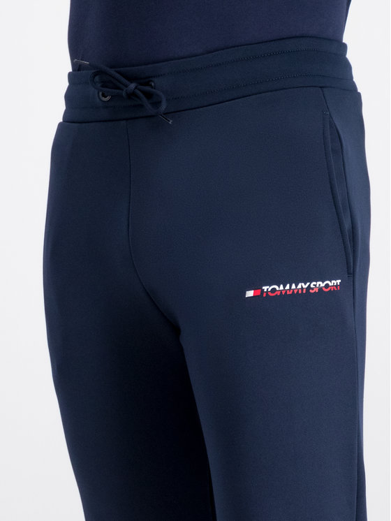 Tommy Sport Tommy Sport Долнище анцуг Lbr Logo S20S200184 Тъмносин Regular Fit