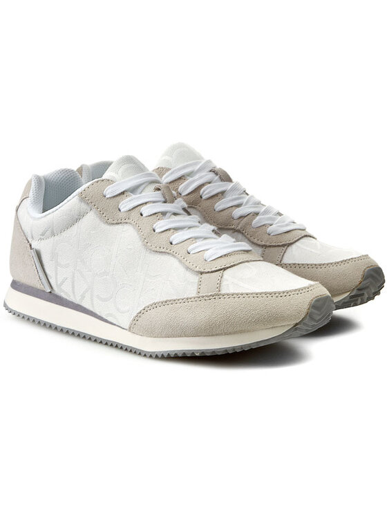 Calvin Klein Jeans Calvin Klein Jeans Sneakersy Major Ck Logo Jacquard/Suede SE8369 Biały
