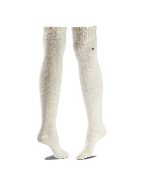 TOMMY HILFIGER TOMMY HILFIGER Κάλτσες πάνω από το γόνατο γυναικείες 433018001 35/38 Μπεζ