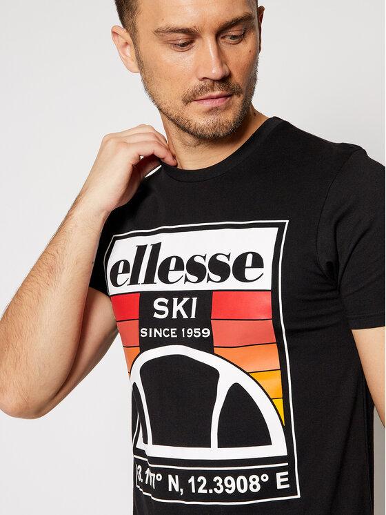 Ellesse Ellesse T-Shirt Tero SHG09744 Czarny Regular Fit