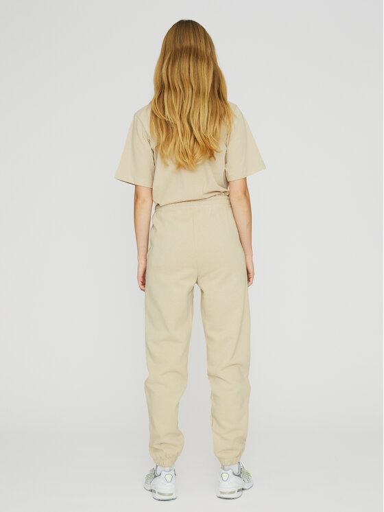 ROTATE ROTATE Spodnie dresowe Mimi RT470 Beżowy Loose Fit