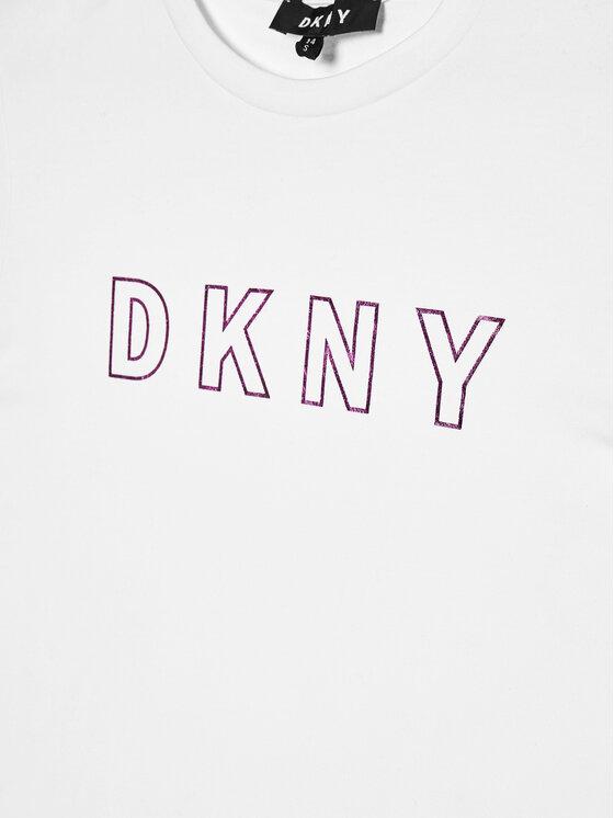DKNY DKNY T-Shirt D35Q77 D Biały Regular Fit