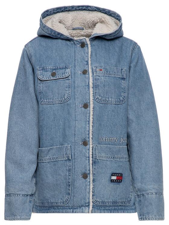 Tommy Jeans Tommy Jeans Farmer kabát Sherpa DW0DW07327 Kék Regular Fit