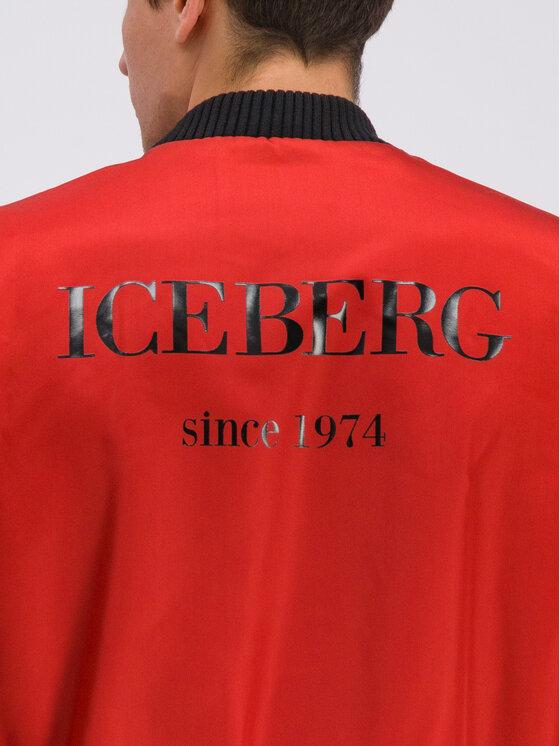 Iceberg Iceberg Bomber bunda 19II1P0O090 Červená Regular Fit